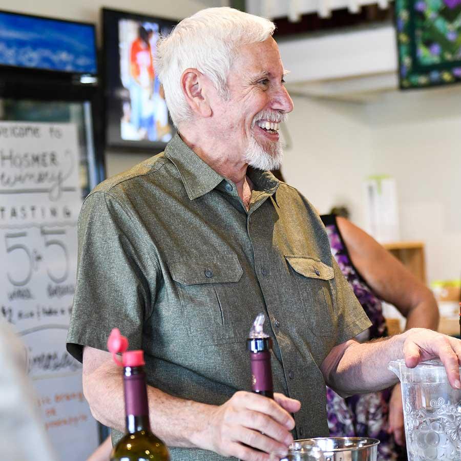 Hosmer Winery Tasting Crew